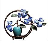Flor Artificial China Zen Jarrón de cerámica Flor Falsa, Simulación casera Creativa Adornos Florales, Flor Artificial Bonsai Sala de Estar Artificial Flores Artificiales con macetas