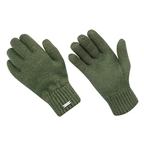 Squisitamente Subzero Guanti per cacciatori con lana 100% – Guanti invernali Hubertus Green – Materiale naturale senza trattamento chimico Hubertus Green XL