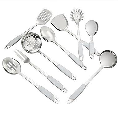 Eagrye 9-Piece Kitchen Utensil Set, Stainless Steel Kitchen Tool Set, Cooking Utensils Set, F
