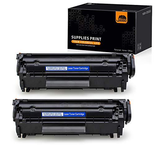 JARBO Compatible Toner Cartridges Repalcement for HP 12A Q2612A, Use with Laserjet 1020 1012 1022 1010 1018 1022n 3015 3030 3050 3052 3055 M1319F Printer, 2 Black