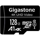 Gigastone マイクロSDカード 128GB Micro SD card SDアダプタ付き U1 C10 95MB/S SDXC 4K Ultra HD ビデオ 撮影