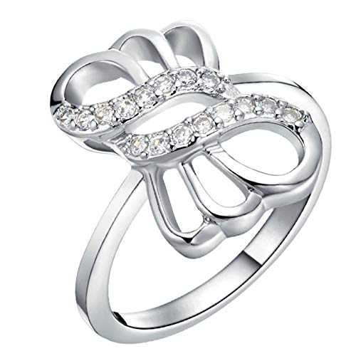 KnSam Ehering Aus Silber Herren Ring Herren Kupfer Versilber Krawattenknoten Silber Ring Valentinstag Gedenkenstag Geschenk