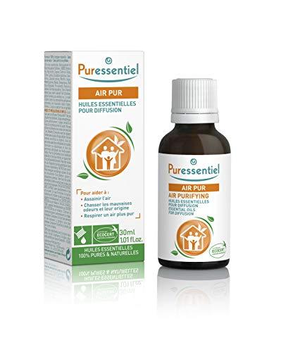 Puressentiel - Assainissant - Huiles Essentielles pour Diffusion - Diffuse Air Pur - 100% pures et naturelles - Aide à assainir l'air et chasser les mauvaises odeurs - 30 ml