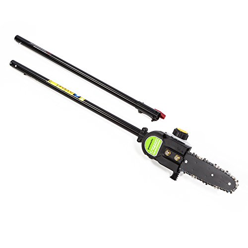 Greenworks 3' Pole Saw Attachment for String Trimmer PSA81,Black/Green