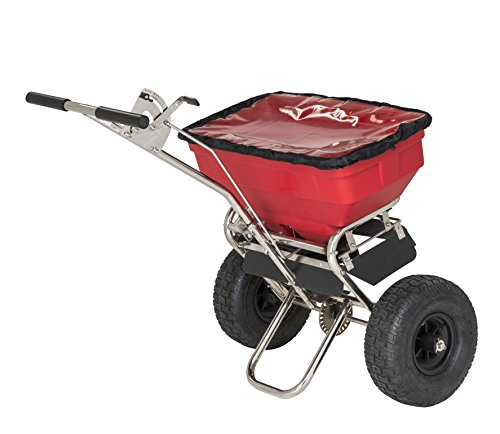 PROFI STREUWAGEN 53 Liter (57 kg), 3 m Streuweite, für Rasen, Dünger, Salz und mehr - Zentrifugalstreuer Salzstreuwagen Rasenstreuwagen Handstreuwagen Streugutwagen