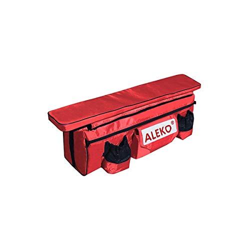 ALEKO bsb250rv133x 8cm cojín del asiento con amplio bajo el asiento bolsa impermeable para botes inflables, de poliéster, color rojo