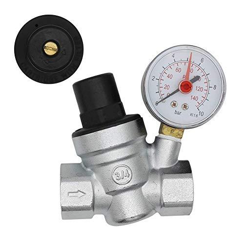 DN20 Wasserdruckminderer 3/4 Zoll Druckminderer Druckminderer Ventil Wasserdruck mit Messmesser