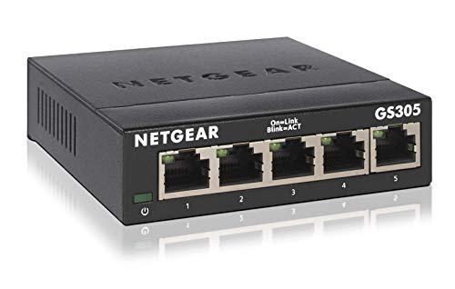 NETGEAR アンマネージスイッチングハブ 5ポート 卓上型コンパクト ギガビット 静音ファンレス 省電力設計 G...