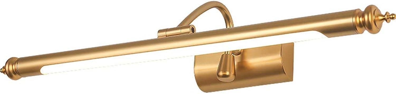 Spiegel Frontleuchte American LED Badezimmer Spiegel Schrank Licht Dressing Lampe Nordic Beleuchtung Einfaches Spiegel Licht (gre   52cm)