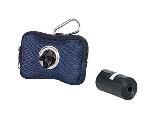 Nobby TidyUp - Dispensador de Bolsas para excrementos (10 x 3 x 7 cm, Incluye 2 Rollos de 15 Bolsas), Color Azul