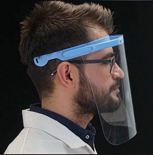 Visier Gesichtsschutz verstellbar - Klappvisier aus Robustem Kunststoff – Face Shield – Schutzschild Gesicht Made in EU