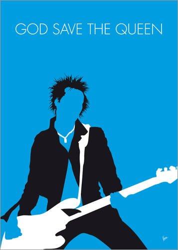 Lienzo 30 x 40 cm: No169 MY Sex Pistols Minimal Music Poster de chungkong - Cuadro Terminado, Cuadro sobre Bastidor, lámina terminada sobre Lienzo auténtico, impresión en Lienzo