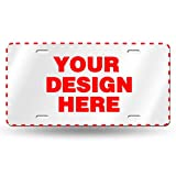 Custom License Plate Personalized, Add Your Own Customized Pictures Text Logo Art Design Aluminum License Plate, Decorative Car Front License Plate 6' x 12'