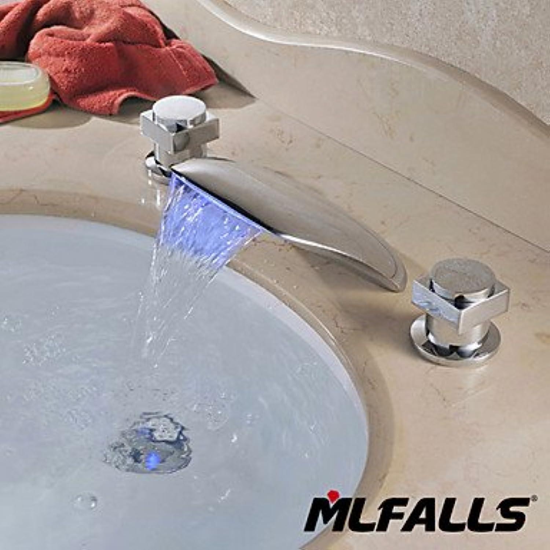 SQL Moderne Deck InsGrößetion 2 behandeln 3 Lcher unter der Leitung von flexibler Wechsel Wasserfall Bad Waschtischmischer