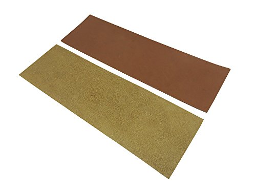 Taytools 469638 2 Piece French Leather Strop Kit for Custom Strops Suede and Smooth Pieces 3 x 10 Inches Each