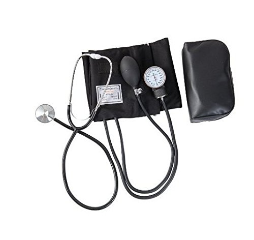 Hensych® Home Blood Pressure cuff Kit with Manual Sphygmomanometer Stethoscope and Carrying Case by Hensych