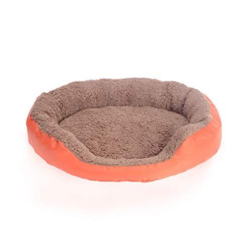 Camas para perros Cama para perros Colchoneta de dormir suave redonda Mascotas Camas invierno cálido gato gatito Cojines suministros para mascotas perro perrera cachorro gatos Mat M naranja