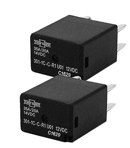 Song Chuan Automotive Relays SPDT 35A 12VDC ( Pack of 2 ) 301-1C-C-R1-U01-12VDC