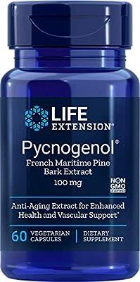 Life Extension Pycnogenol French Maritime Pine Bark Extract, 60 VEG CAPS 100 mg