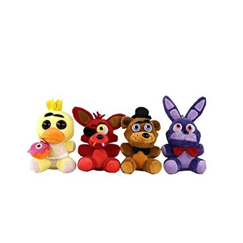 4pcs Nette Tier-plüsch-Spielzeug Fünf Nächte Im Freddys Theme Muster Plüschtier Stofftier Spielzeug Geschenk