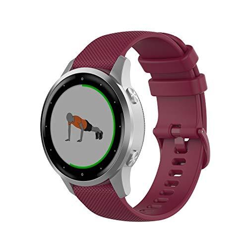 PINHEN Correa de reloj de liberación rápida, 18 mm, 20 mm, 22 mm, silicona de repuesto para mujeres y hombres 22mm