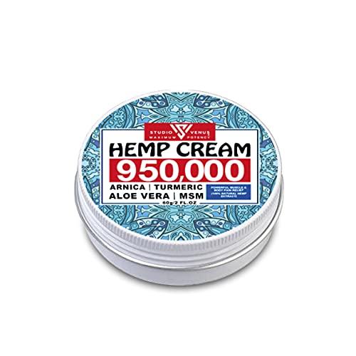 Hemp Hand Body Cream Arnica Massage 950000mg Anti-Inflammation Relieve...
