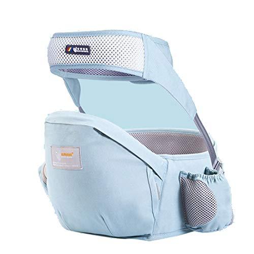 YUYAXPB Draagbare babydraagtas, ergonomische zitting, heupgordel, veiligheidsgordel, katoen, meervoudige positionering voor baby's, 0-48 maanden cadeau
