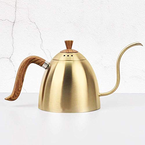 Ketel Koffiepot eenvoudig te reinigen 700 ml Giet over Kettle Cooker Verwarming met houten handvat lange smalle uitloop Coffeemaker Pot Hand Drip thee en koffie Ketel for Inductie coffee pot