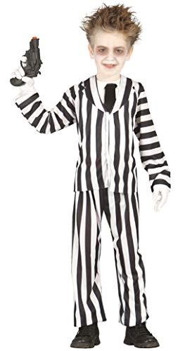 Noir pour Garçons Blanc Crazy Fantôme Halloween Film Costume Déguisement 3-12 Ans - Noir - Noir/Blanc, 5-6 Years, Noir/Blanc