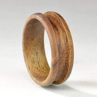 Best Koa Exotic Wood Ring Core Blank for Inlay Jewelry Making (8mm, Size 12) Review