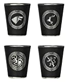 Rabbit Tanaka Game of Thrones House Sigil Shot Glass Set (Set of 4)
