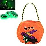 Bolsa De Calabaza De Halloween Cintas De Halloween Bolsa De Truco O Trato,Con Cinta Luminosa De 1 Cm...