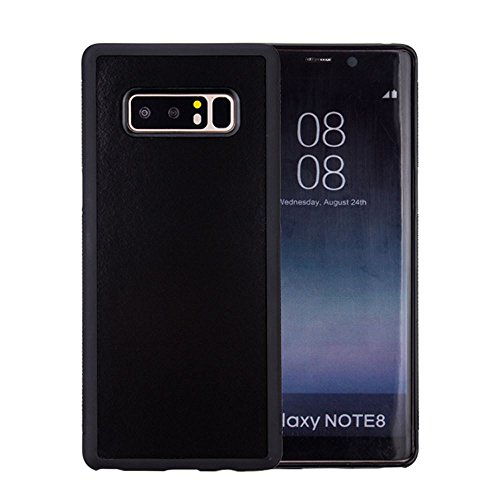 KIKO Samsung Galaxy Note 8 Magic Case Cover - Anti-Gravity Material Sticks to Smooth Surface - Protector Skin Anti Scratch Abrasion Resistant Impact Defender Drop Protective - Sticky (Black)