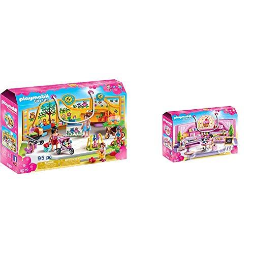 PLAYMOBIL City Life Tienda para Bebés, a Partir de 5 Años (9079) + Cafetería Cupcake (9080)