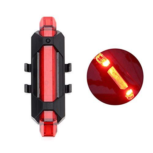 FSHB Rechargeable LED Feu arrière Vélo Lumière USB Sécurité Avertissement Feu Arrière Vélo lumière Portable Flash Super Lumineux Vélo Lumière, Rouge