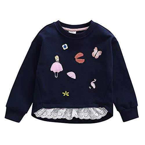 Sweat-Shirt Polaire Enfant Binggong, Bébé Garçon en Coton Col Rond Broderie Sweater Manche Longue Enfant pour Automne Hiver avec Dessin de Noël Vert 2-6Ans