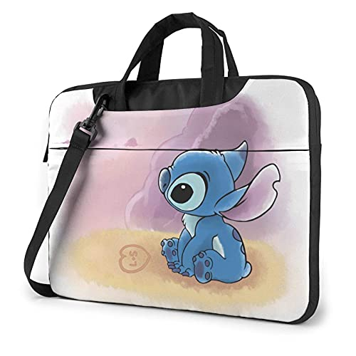 XCNGG Dibujos animados S-titch Lilo Laptop Bag Tablet Maletín portátil Funda protectora Funda Messenger Bolsas de 15,6 pulgadas