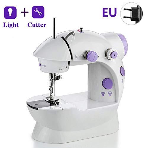 Handheld naaimachine en naaigarenkit, 202 mini-naaimachine, elektrische naaimachine met LED lichtgewicht lichtgewicht naaimachine, kleine draadloze snelle handige steek voor beginners