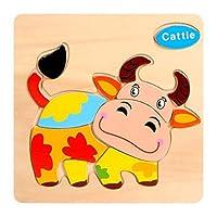 ジグソーパズル - 木製3Dパズル子供のパズル木製玩具漫画の動物のパズルインテリジェンス子供子供の教育玩具ギフト (Color : 18)