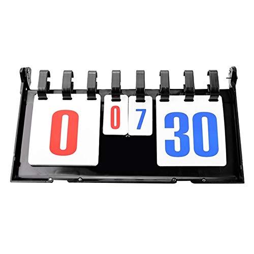 MHSHKS Sportanzeigetafel Anzeigetafeln Anzeigetafel-Nummern Tragbarer Flip Digitale Anzeigetafel Für Baseball Fußball Volleyball Basketball Tischtennis Curling Fechten Rugby