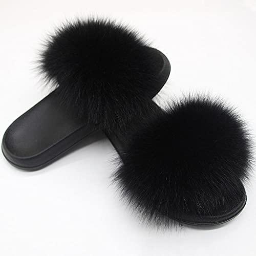 Zapatillas de casa para Mujer Verano Abiertas,Zapatillas de Piel de Piel Anti-Cuero, Zapatos de Lavado de Pieles, Lentes con Damas PVC de la Palabra Drag, Zapatos de natación de playa-42/43_CC