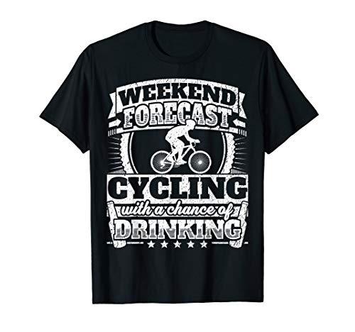 Lustiges Renn-Radfahrer Geschenk Fahrrad & Bier Fun T-Shirt