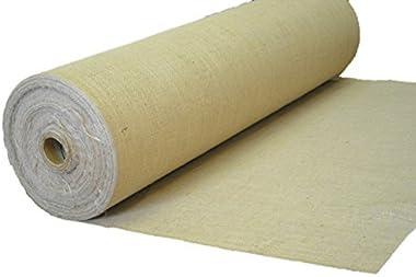 "AK-Trading 60"" Wide Hessian Natural Jute Decoration Burlap Fabric (60"" x 10 Yards), for Arts, Crafts, Interior Design"