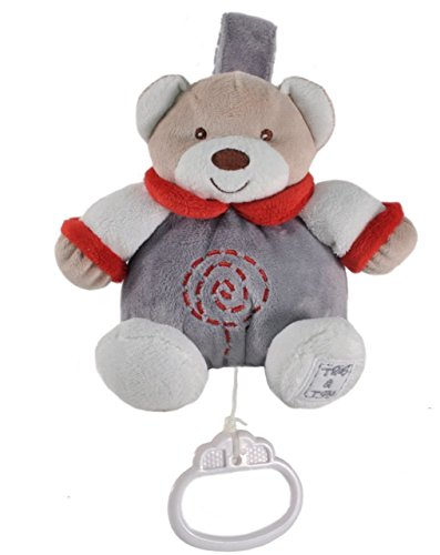 Tris&Ton Peluche musical 13 cm osito infantil bebé niño niña, oso peluche suave felpa modelo Musical Gordi Topitos (Trisyton)