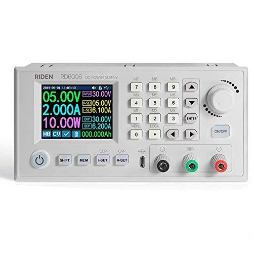 Caja de fuente de alimentación de CC Variable Banco de laboratorio ajustable Fuente de alimentación Convertidor reductor Interruptor descendente 30V 60V 6A