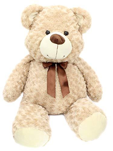 Toyland Karussell Spielzeug und Geschenke Extra große 80cm super kuschelige Plüsch Riesen sitzender Teddybär Stofftier - Karamell