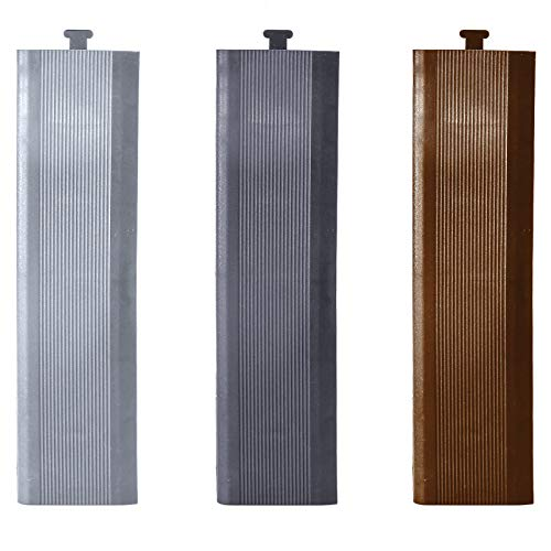HORI® Terrassenfliesen WPC I Klick Bodenfliesen aus Kunststoff in Holzfliesen Optik I Modell: Randabschluss Anthrazit