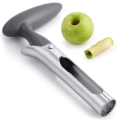 Kitchen Apple Corer, Stainless Steel Fruit Corer Tool for Easy Core Removal