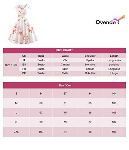 Vestido Mujer Corto - Elegante para Ceremonia y Eventos, Novia o Dama de Honor - para Fiesta Discoteca Moda Baile - M - Model H