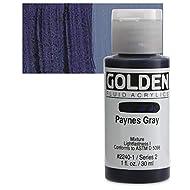 Golden Fluid Acrylic Paint 1 Ounce-Paynes Gray